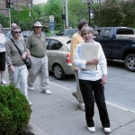 Jackie Murphy leads the lower Church Street walking tour